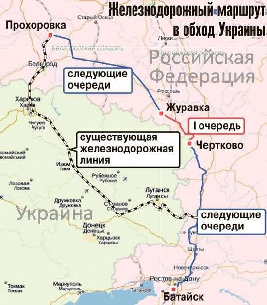 Карта - Схема проекта ж/д