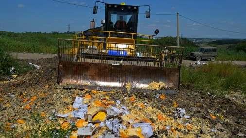 В России за день «похоронили» 319 т санкционной еды