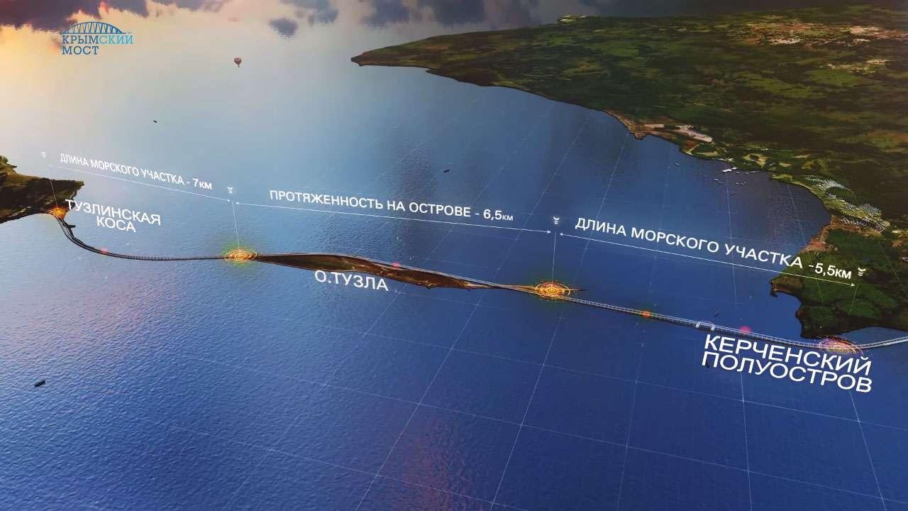 Открытие Крымского моста в мае 2018