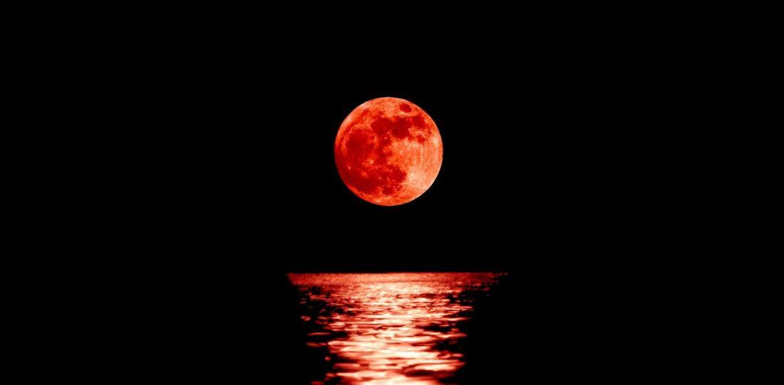 Фото кровавой луны 21 января 2019 года