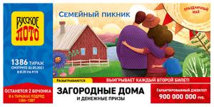 Результаты Русского лото тираж № 1385